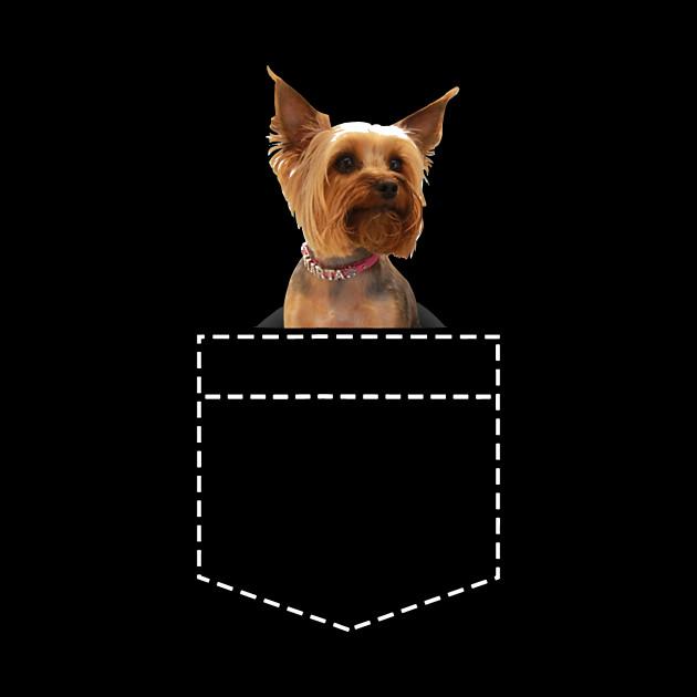 Yorkie In Pocket Yorkshire Terrier T-Shirt