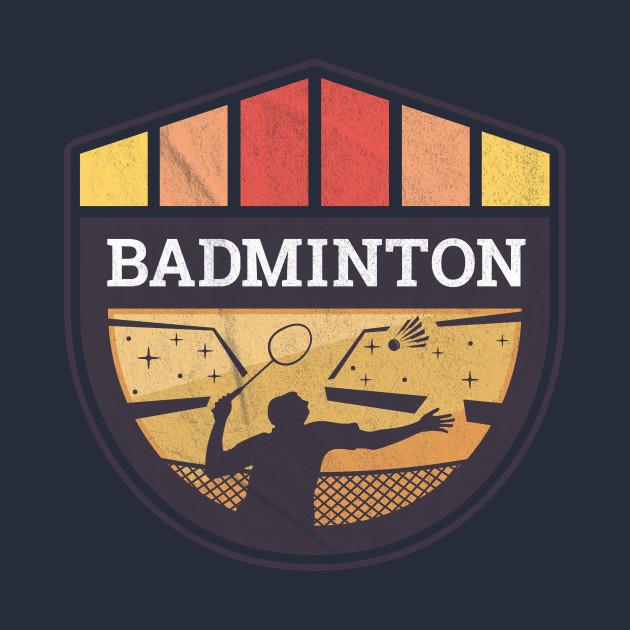 Badminton player - badminton shuttlecock player - badminton bat