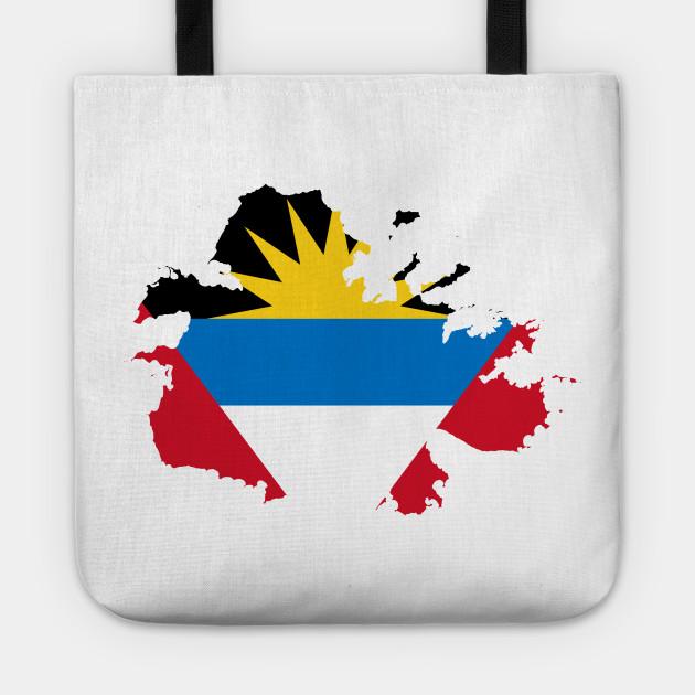 Antigua and Barbuda Flag Map