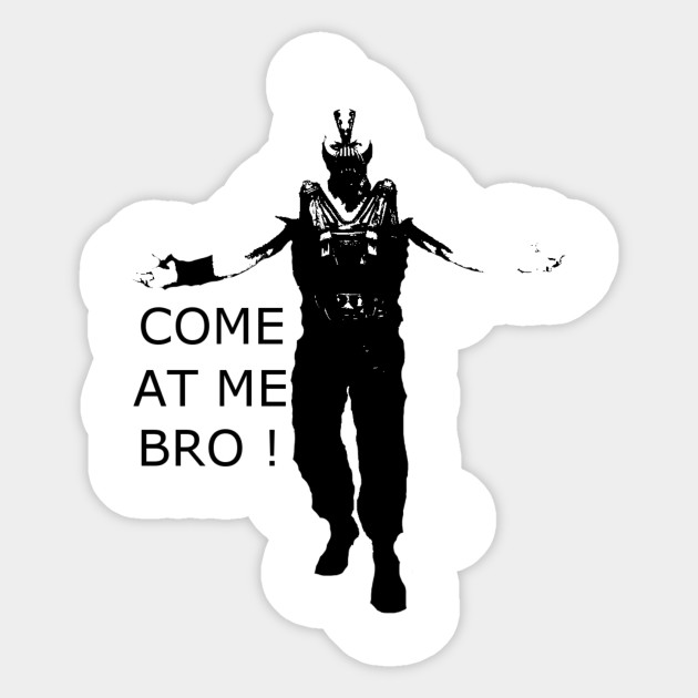Come At Me Bro Stickers