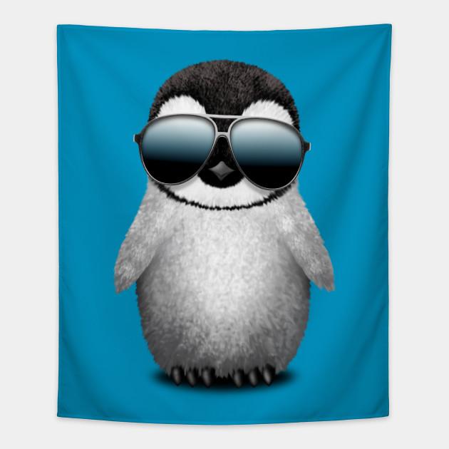 Cute Baby Penguin Wearing Sunglasses