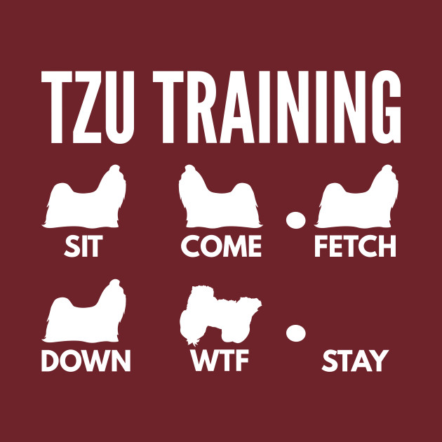 Shih Tzu Training Shih Tzu Dog Tricks Shih Tzu T Shirt Teepublic