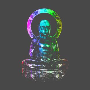 Rainbow Buddha Statue t-shirts