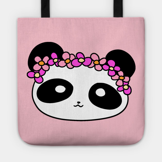 Flower Crown Panda Face
