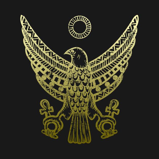 Ancient Egyptian Horus Falcon Hieroglyphic Egypt Tank Top