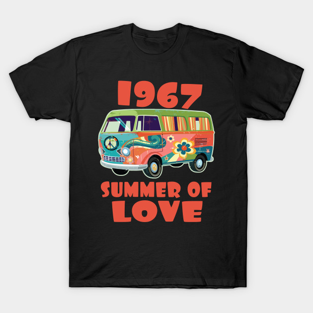 481518d294c 1967 Summer of Love Retro Tees Vintage Sixties Hippie Shirt