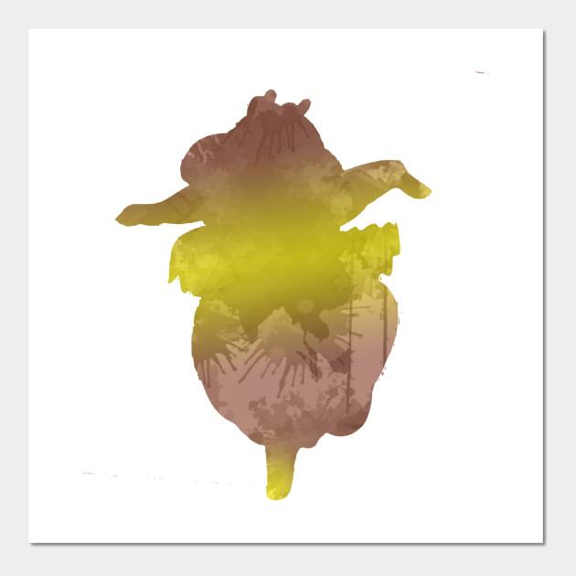 Hippo Inspired Silhouette - Fantasia - Wall Art   TeePublic