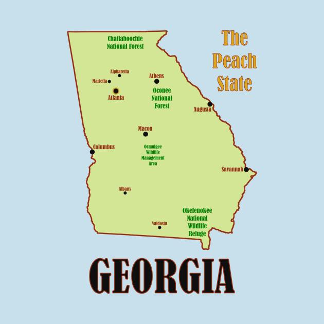 Georgia Map For Kids.Georgia Map Georgia Kids Long Sleeve T Shirt Teepublic