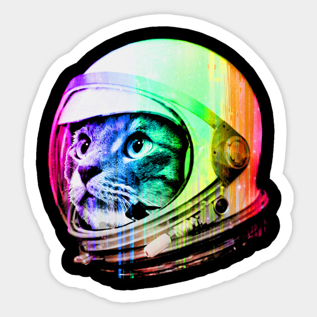 Astronaut Space Cat Space Cat Sticker Teepublic