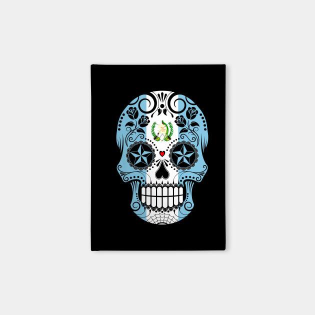Guatemalan Flag Sugar Skull with Roses