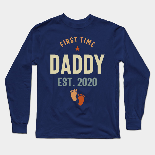 First Time Daddy Est 2020 Father's Day Long Sleeve T-Shirt