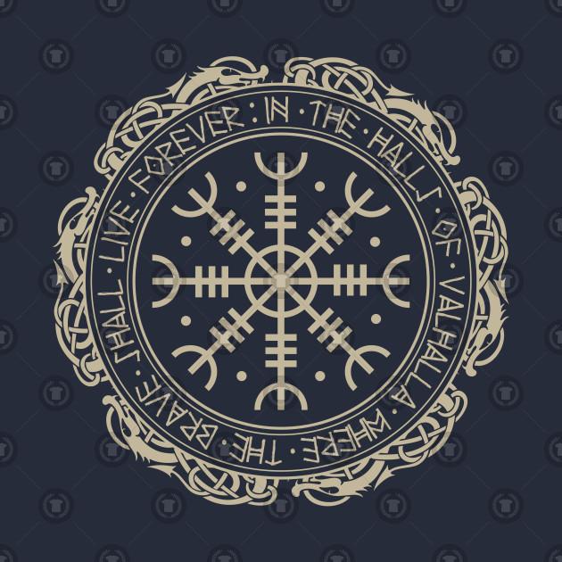 3995bea6a Aegishjalmur The Helm of Awe - Viking Mythology - T-Shirt | TeePublic