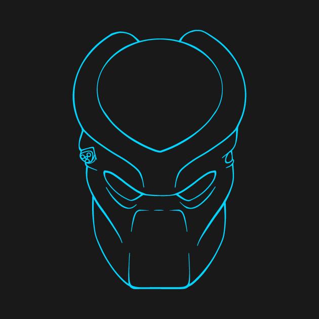Predator Mask (Cyan)