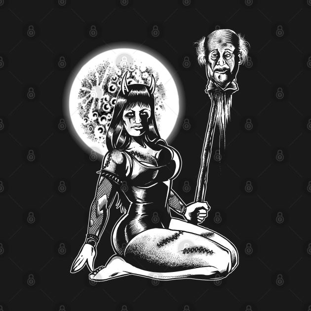 Horror Pinup by the Moon