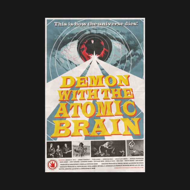 """""""Demon with the Atomic Brain"""" poster"""