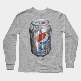 Can of pepsi light cola drawing Long Sleeve T-Shirt