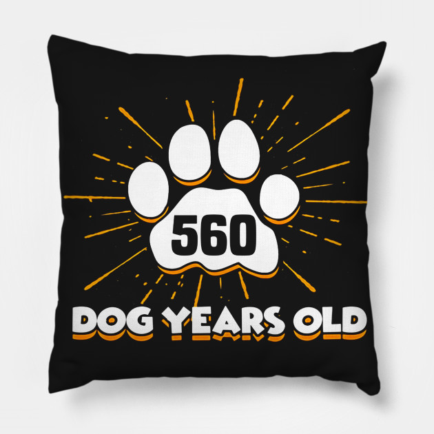 560 Dogs Years Old T Shirt 80th Birthday For