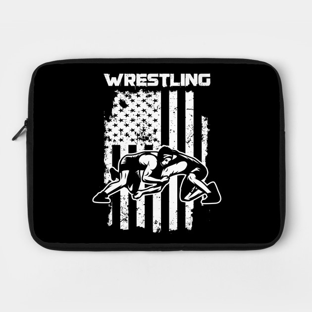 Wrestling Flag USA American Wrestle Wrestler Fighter Combat Contact Sports