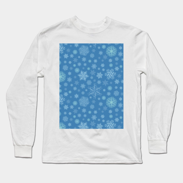 Snow time. Winter time. Christmas snow flakes. Colorful Christmas gift. Long Sleeve T-Shirt
