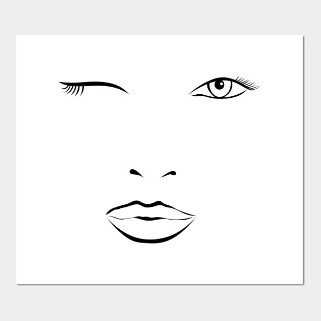 dec84e27d Winking Sexy Stylized woman - Stylized Portrait - Posters and Art ...