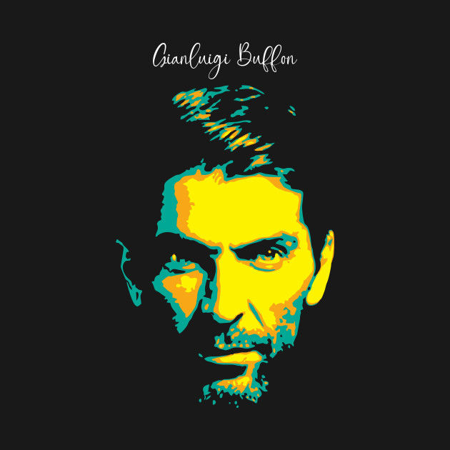 Gianluigi Buffon Pop Art. Italian professional footballer who plays as a goalkeepers. keeper.