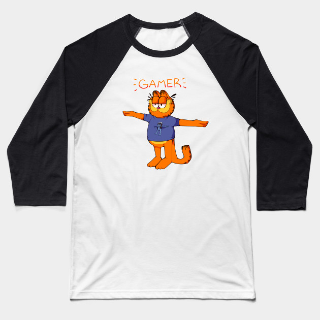 Gamer Garfield Crazy Frog T Pose Garfield Baseball T Shirt Teepublic