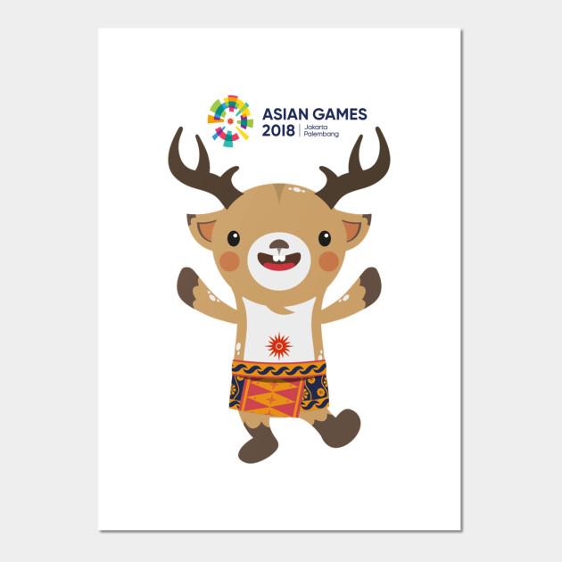 Maskot Asian Games  Atung Posters And Art Prints
