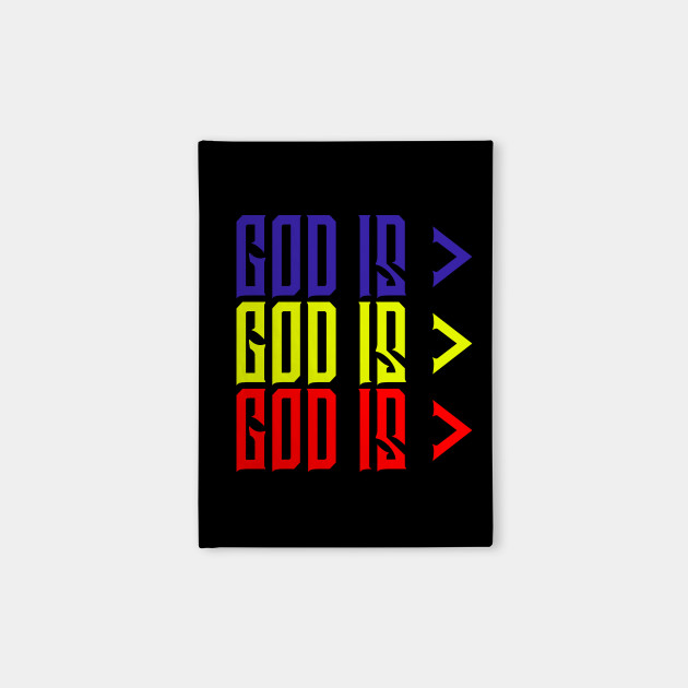 Copy of God is Greater, Colorful, Christian, Jesus, Quote, Believer, Christian Quote, Saying
