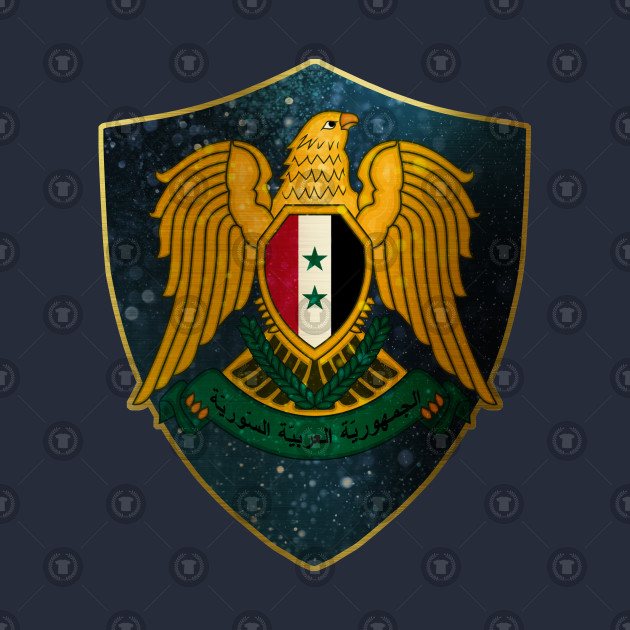 Syria Coat of Arms and Starry Nights Shield