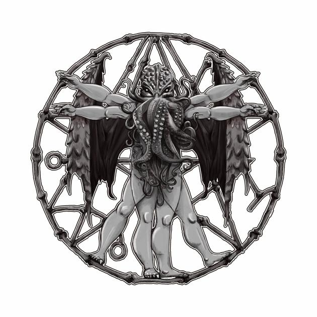 Vitruvian Cthulhu Ancient Lovecraft Mythos Symbol Best Cthulhu