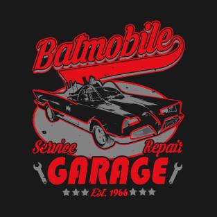 Batmobile Garage t-shirts