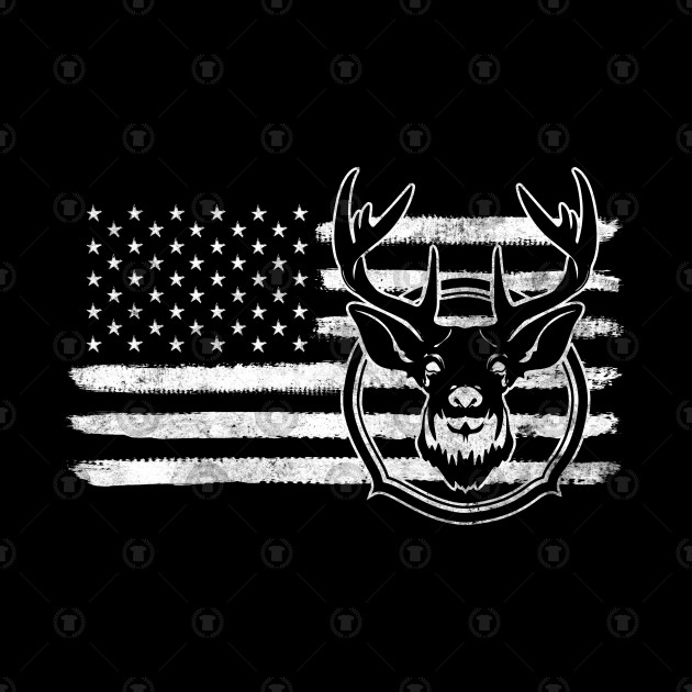 American Flag Deer Hunting Funny Gift For Hunter