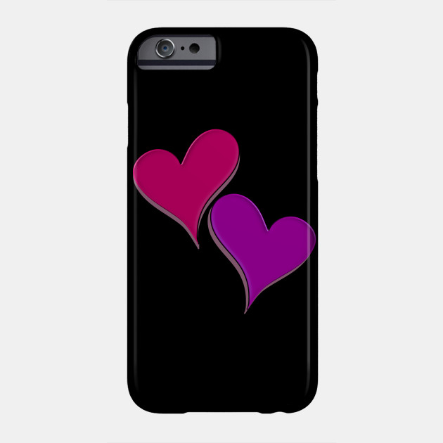 asymetric hearts pink, valentine's day, romantic Phone Case