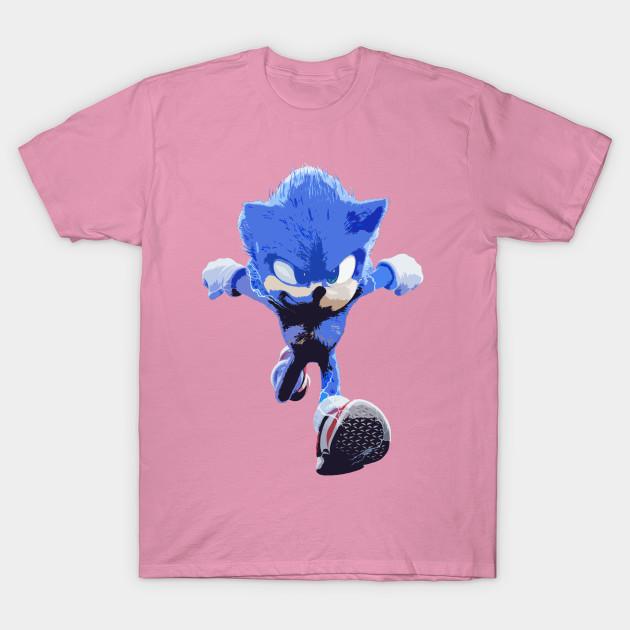 Sonic The Hedgehog Movie Sonic Movie T Shirt Teepublic