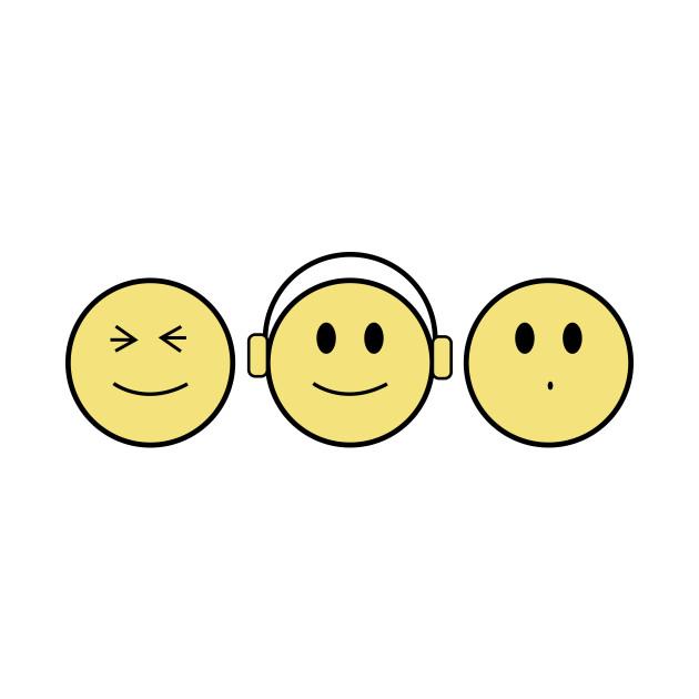 Emoji - See No Hear No Speak No by nataliepaskell