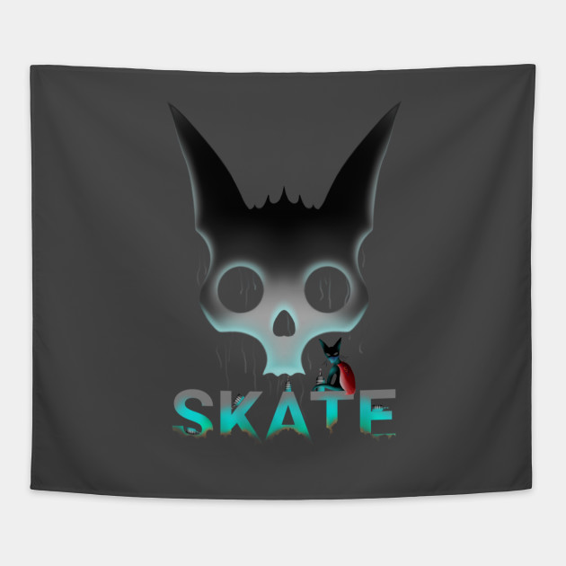 Skate graffiti super hero cat skate graffiti cat tapestry 1437100 1 altavistaventures Choice Image