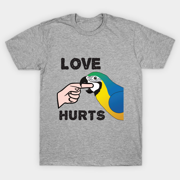 Love Hurts - Blue and Gold Macaw Parrot