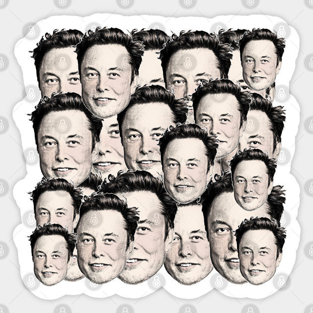 Elon Musk Collage ∆†∆†∆ 90s Style Aesthetic Design