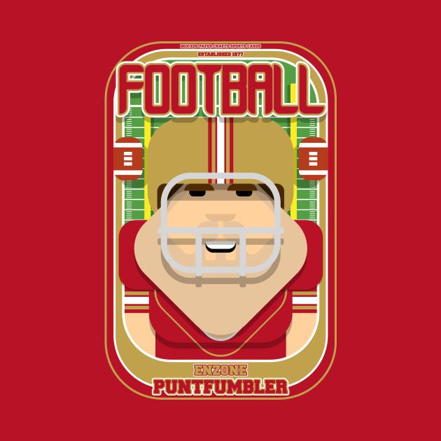 American Football Red and Gold - Enzone Puntfumbler - Bob version