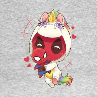 Deadpool Unicorn Marvel Superhero t-shirts