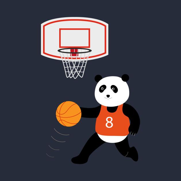 Play basketball with a panda