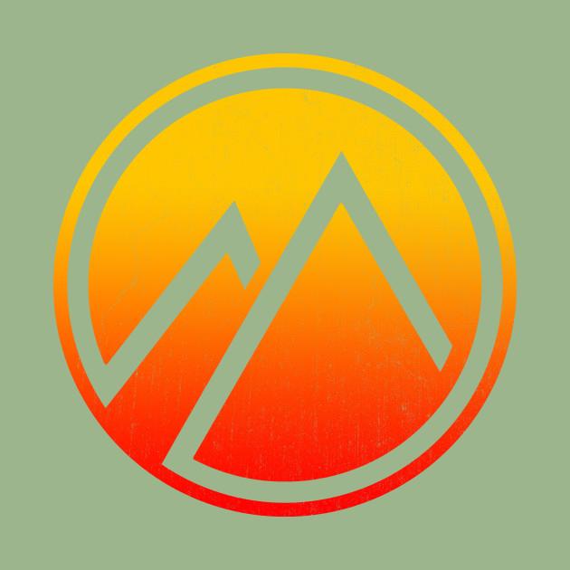 sunset mountain icon