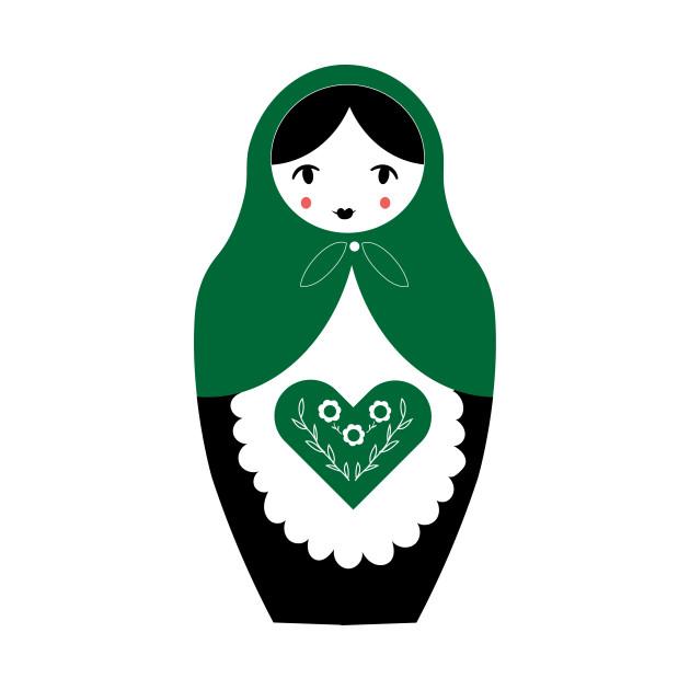 Matryoshka Nesting Doll, Green