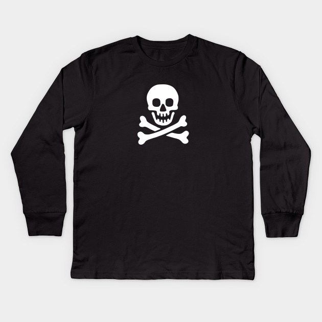 Pirate Skull Childrens Long Sleeve T-Shirt Boys Cotton Tee Tops