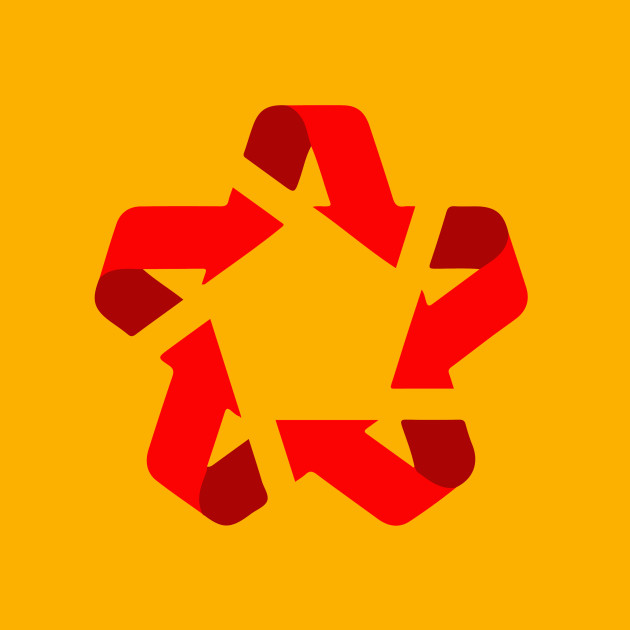 Recycle Red Star Symbol Of New Communism Era Europe Phone Case
