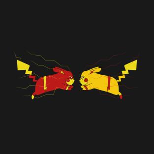 Pikaflash vs Reverse Pikaflash t-shirts