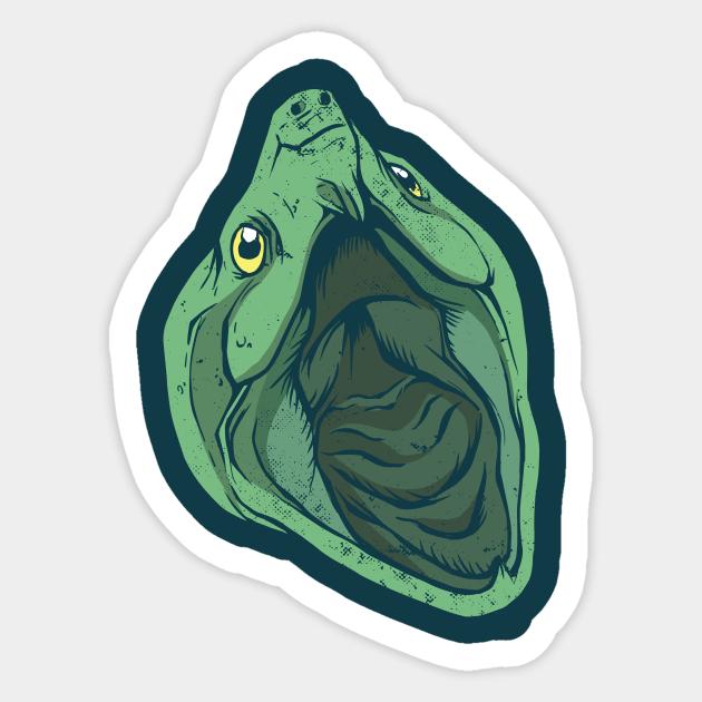 STICKER Turtle Head