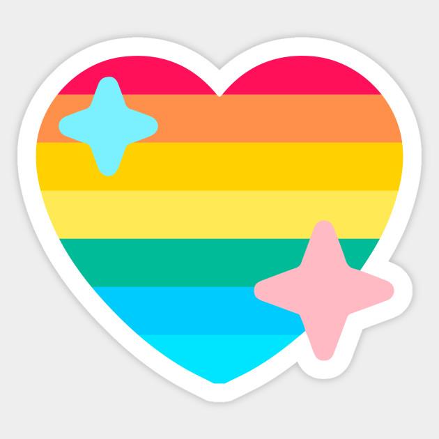 Gay Pride Twitter Heart Emoji Pride 2018 Sticker Teepublic