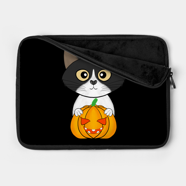Halloween cute cat pumpkin