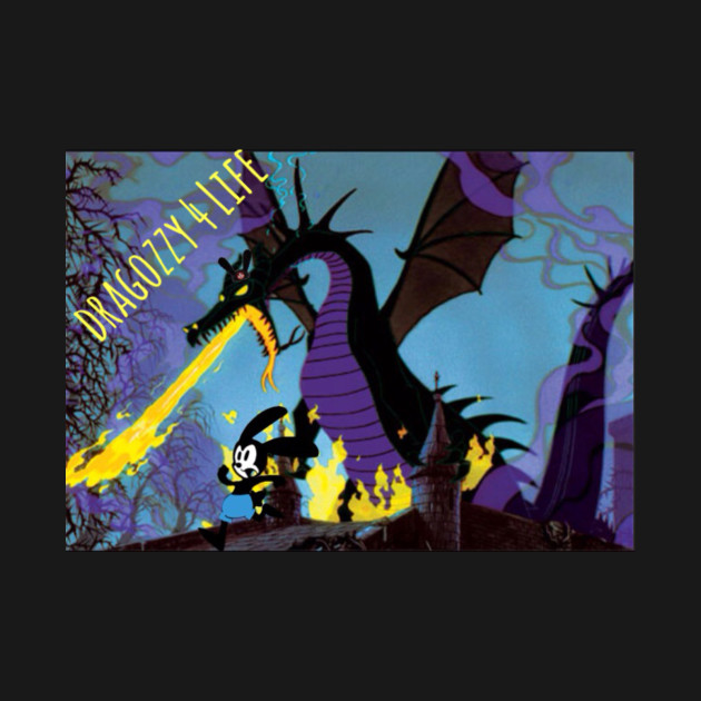 Maleficent Dragon Meets Oswald The Lucky Rabbit